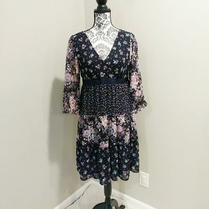 Ann Taylor Boho Ruffle Dress